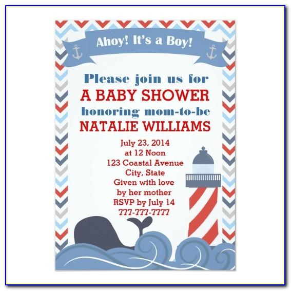 Ahoy It's A Boy Shower Invitation Templates