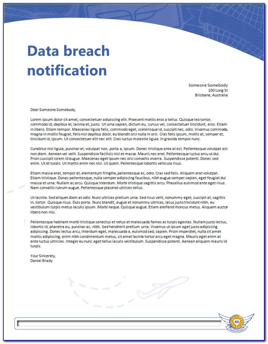 Annual Data Breach Report Template