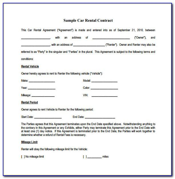 Auto Lease Contract Form