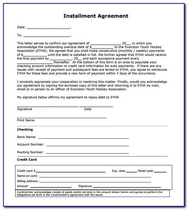 Auto Retail Installment Contract Template