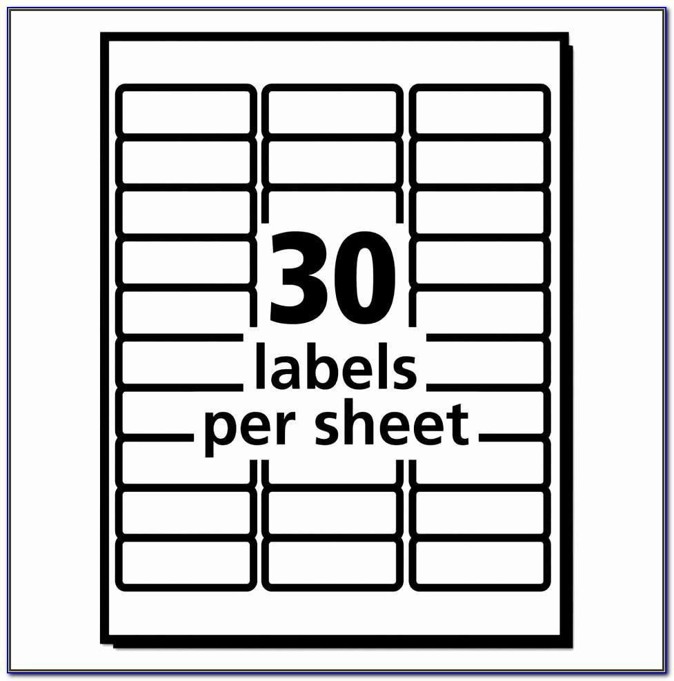 Avery Address Label Template 30 Per Sheet