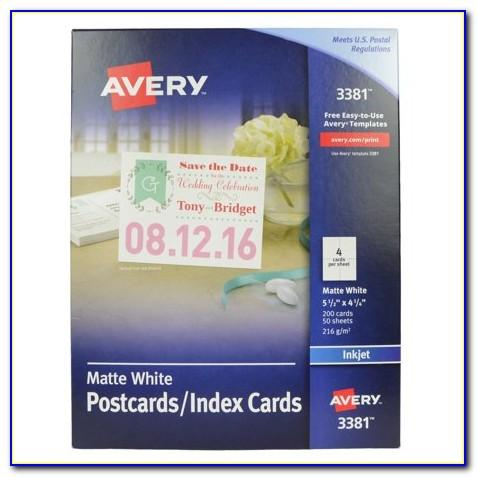 Avery Card Stock Templates