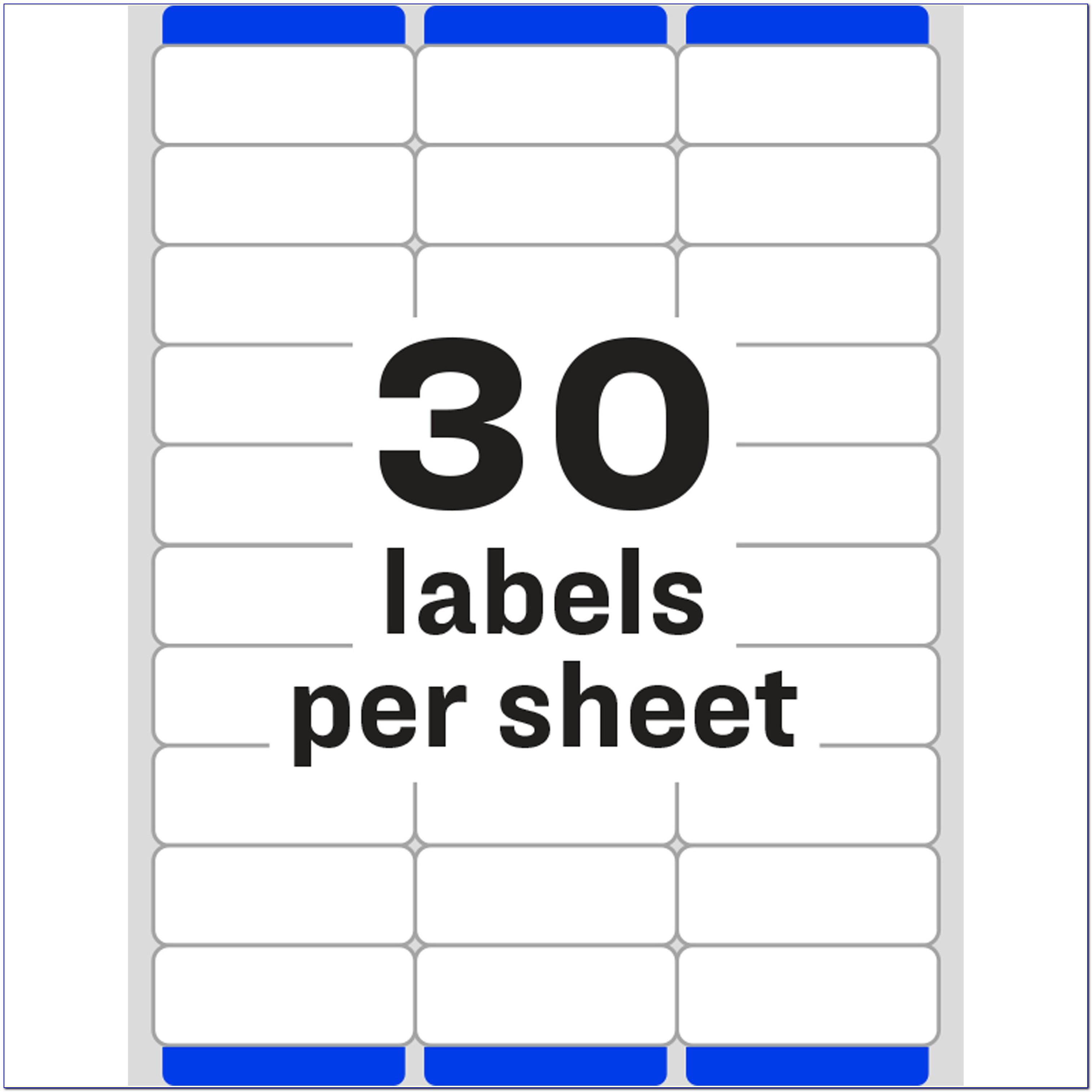 Avery Label Template 30 Per Page