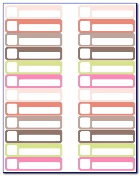 Avery White File Folder Labels 5366 Template