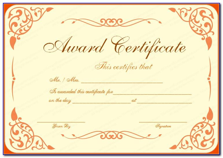Awards Certificates Templates Free