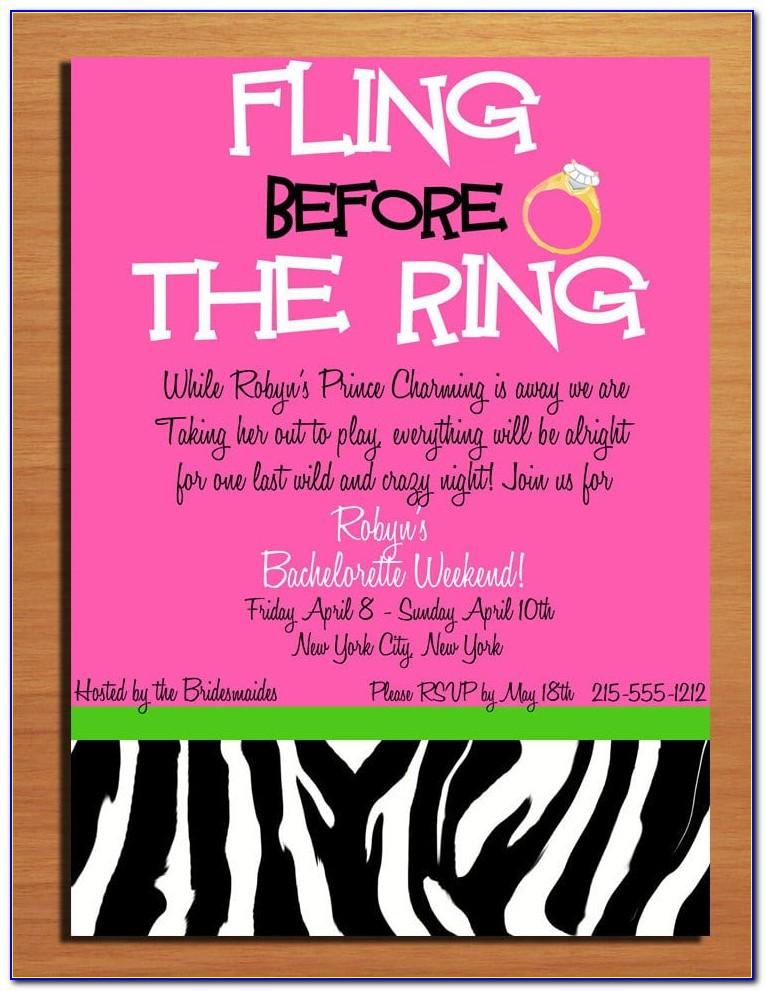 Bachelorette Party Invitations Templates Free
