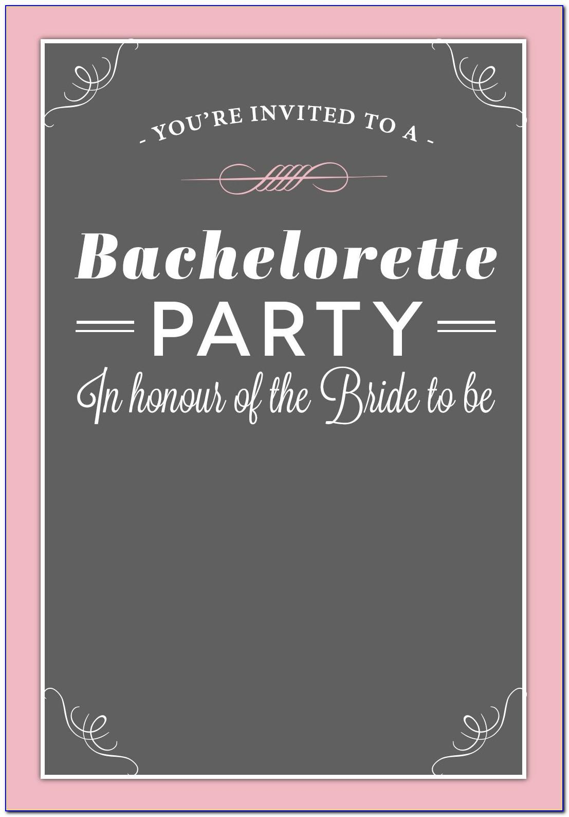 Bachelorette Party Invites Free Printable