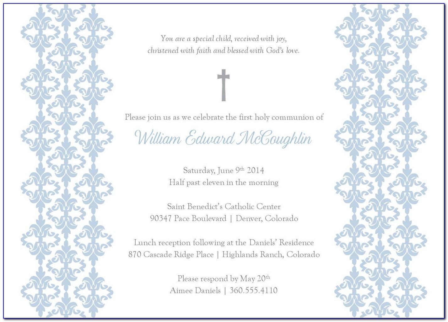 Baptism Invitation Template Free Download