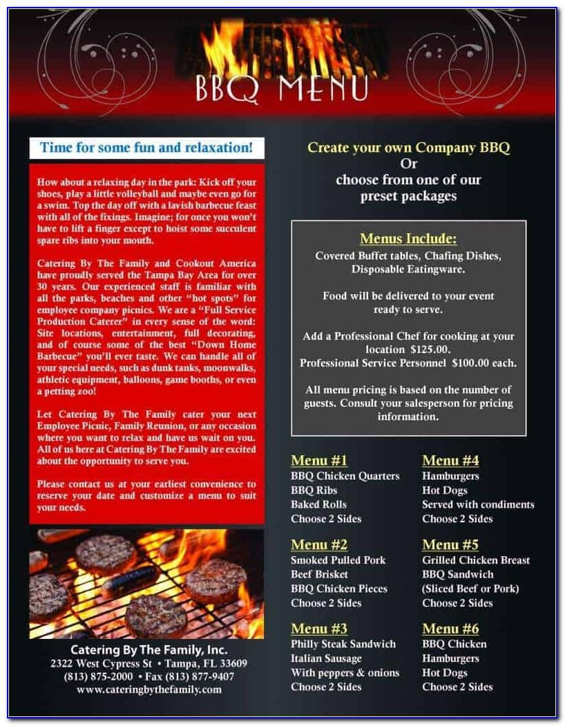 Bbq Menu Template Free Download