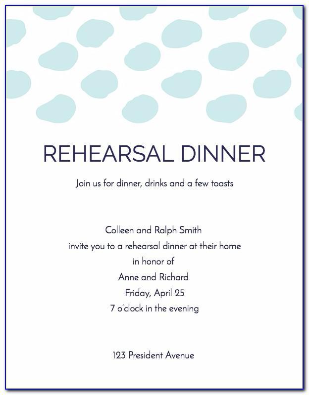 Bbq Rehearsal Dinner Invitation Template
