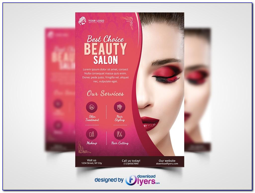 Beauty Salon Flyer Templates Free Download
