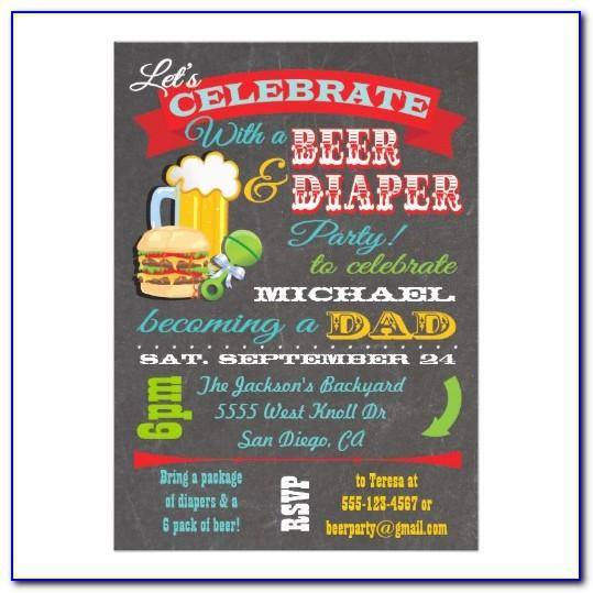 Beer And Diaper Party Invitation Template Free