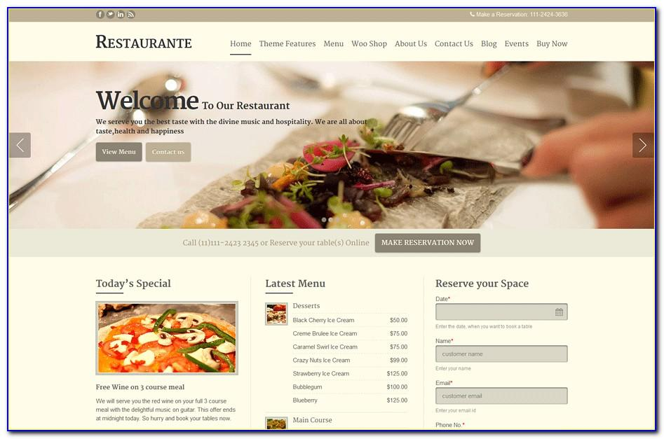 Best Wordpress Themes For Restaurants Free