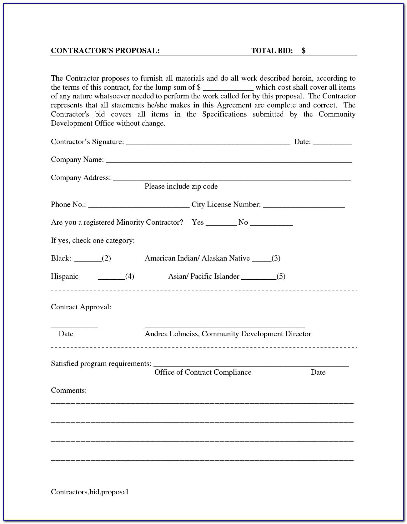 Bid Contract Template