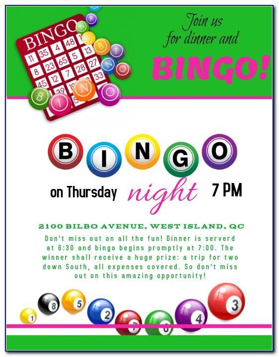 Bingo Party Invitation Template
