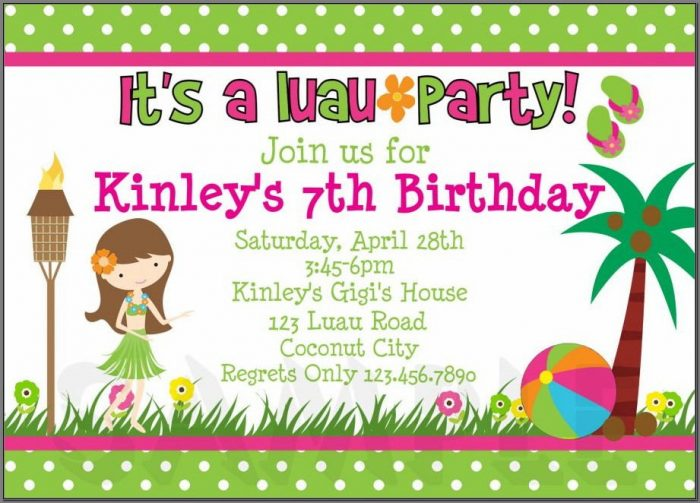 Birthday Invitation Text For Baby Girl