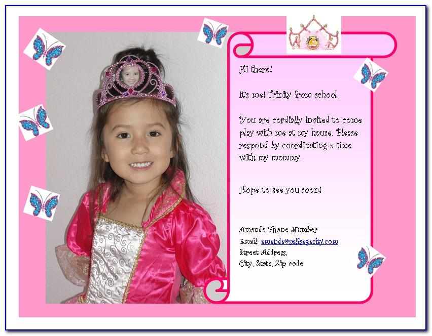 Birthday Playdate Invite Template