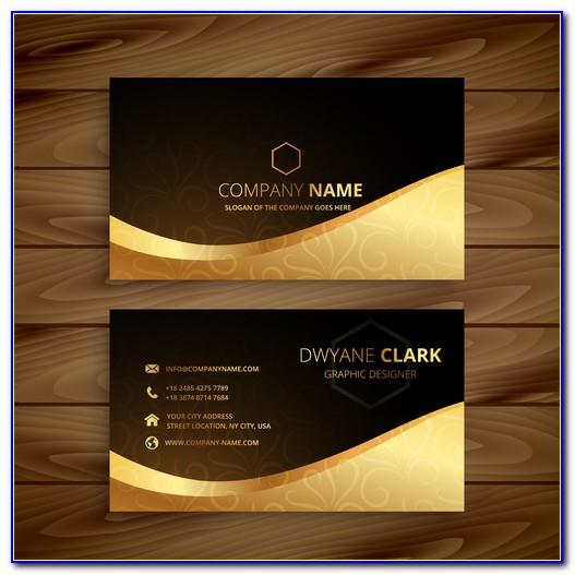 Black And Gold Business Card Template Psd