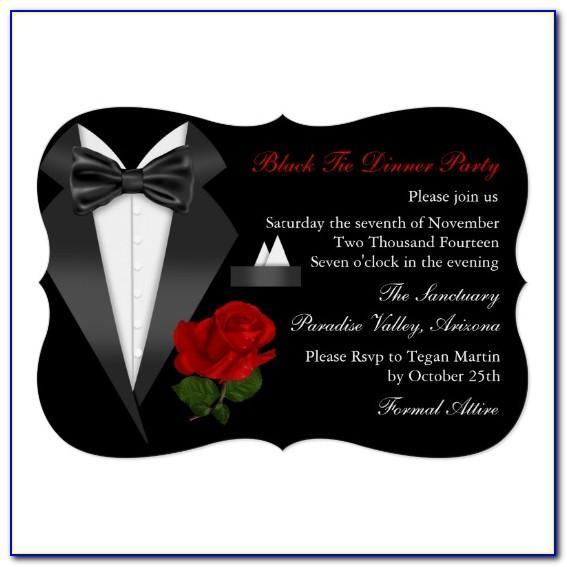 Black Tie Dinner Invitation Template