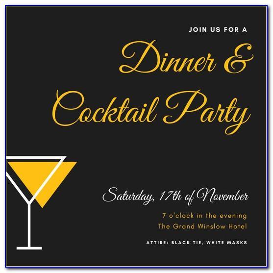 Black Tie Dinner Invitation Wording