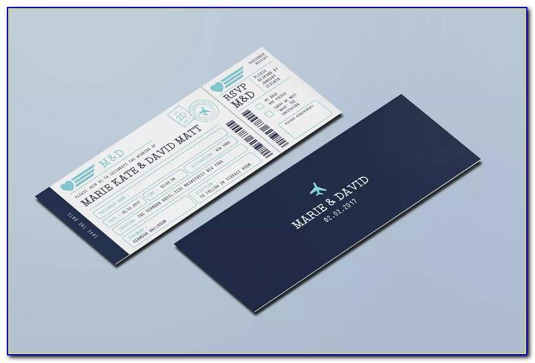 Boarding Pass Invitation Template Psd