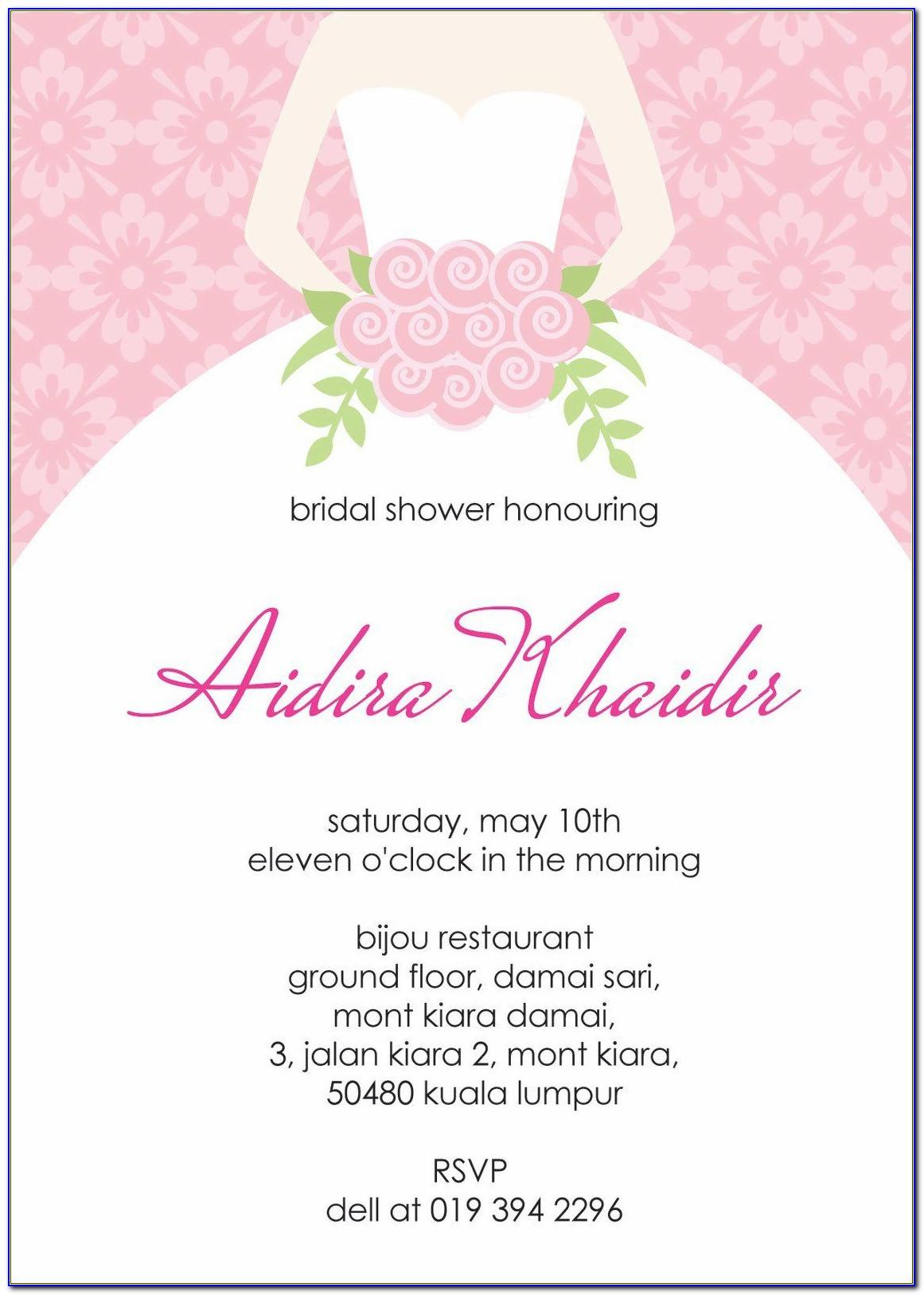 Bridal Shower Invitation Free Templates