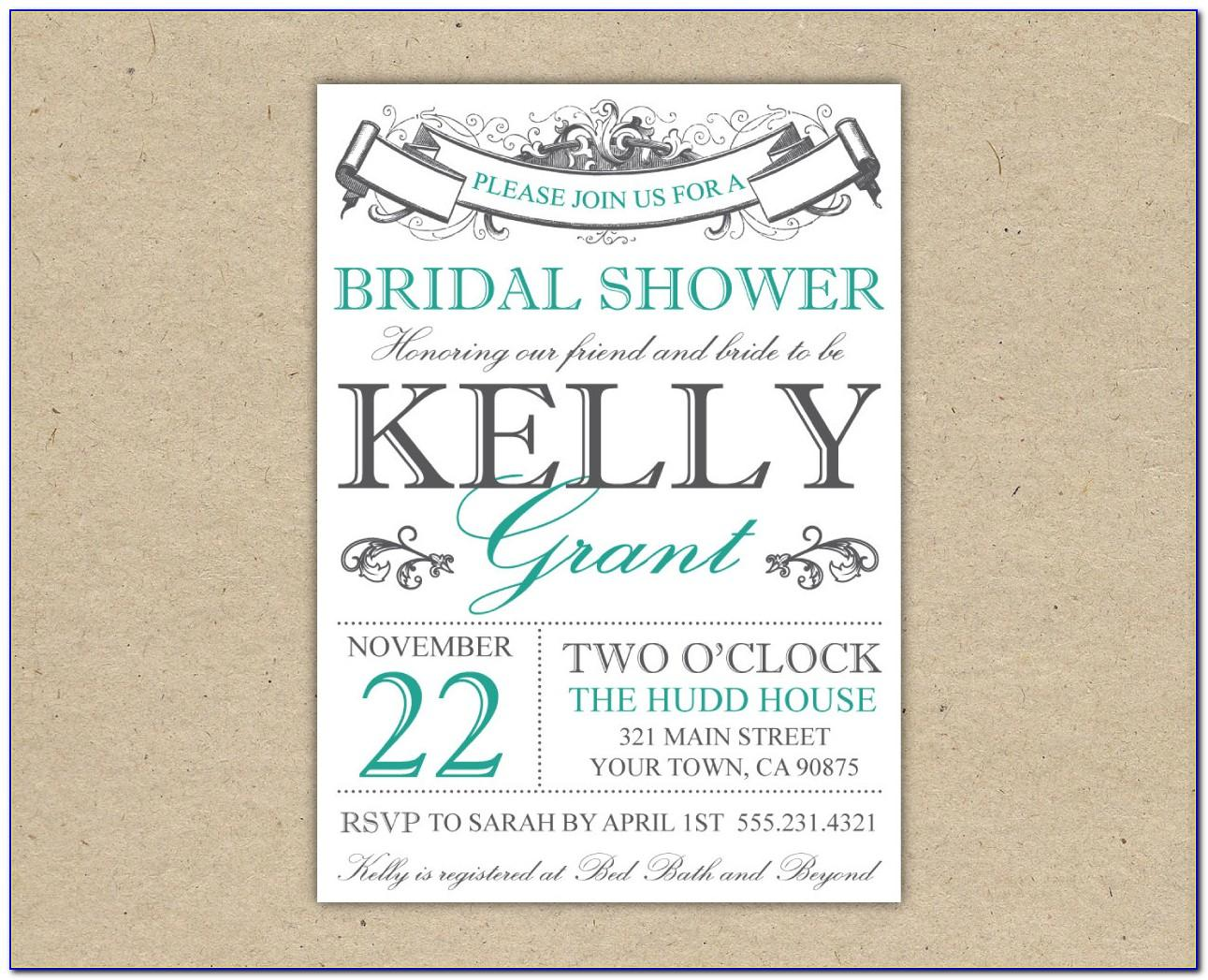 Bridal Shower Invitation Templates Free For Word