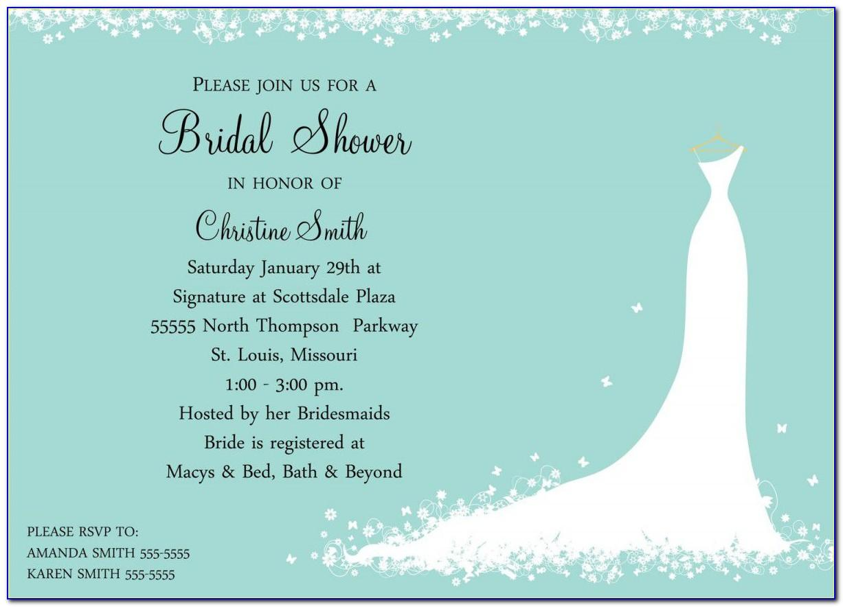 Bridal Shower Invitations Free Templates