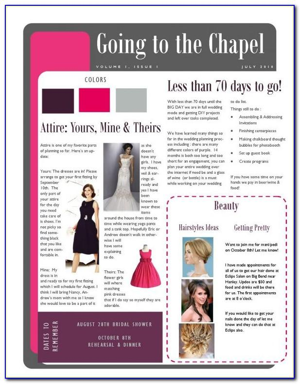 Bridesmaid Newsletter Template Download
