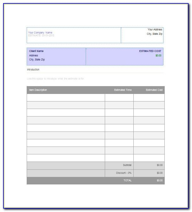 Builder Invoice Template Excel