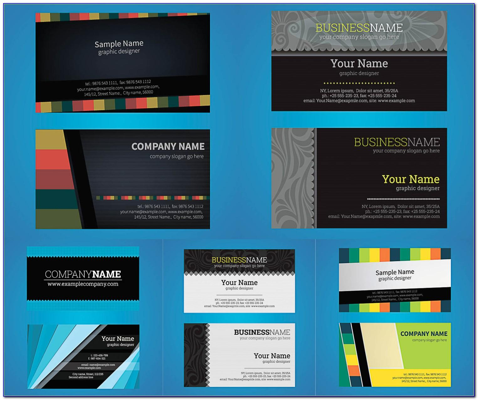 Business Card Ai Template Free Download