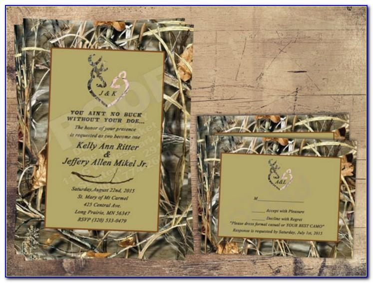 Camo Wedding Invitation Templates