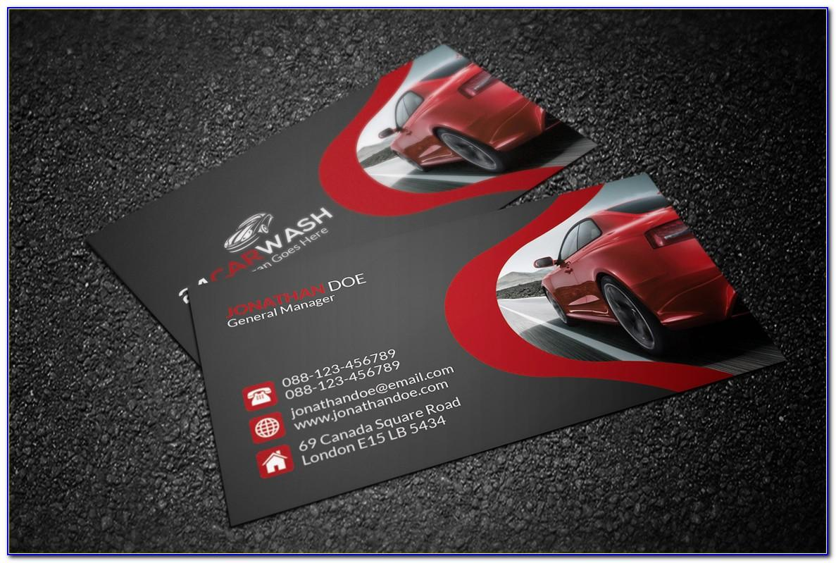 Car Detailing Business Cards Templates