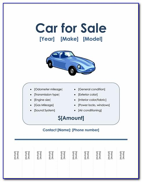 Car For Sale Ad Template Free