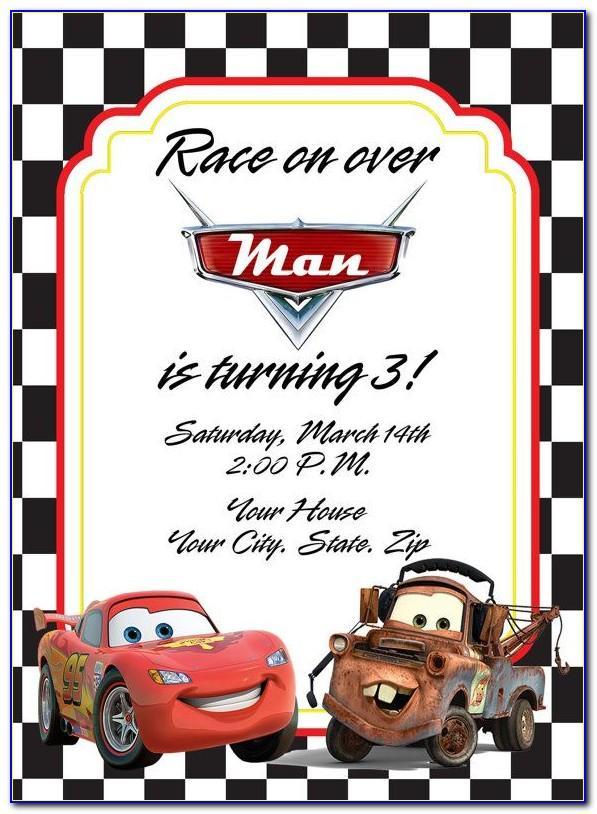Cars Invitation Card Template Free