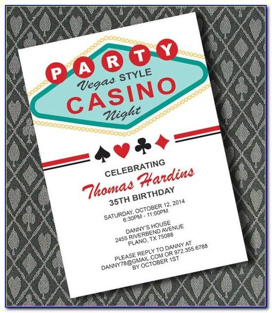 Casino Theme Party Invitations Templates Free