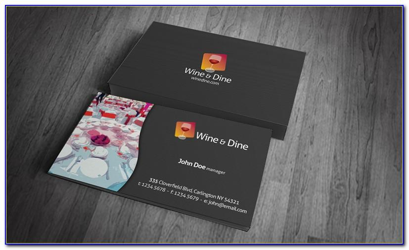 Catering Business Card Templates Free