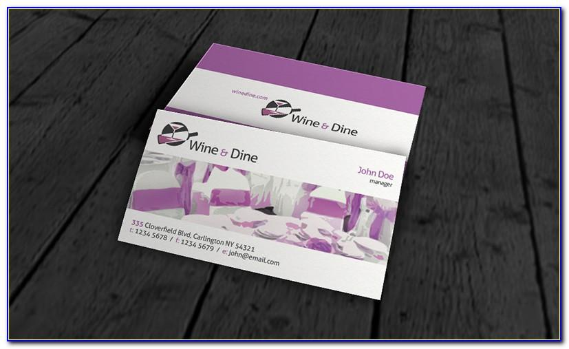 Catering Business Cards Templates Free Download