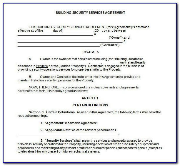 Cctv Service Level Agreement Template