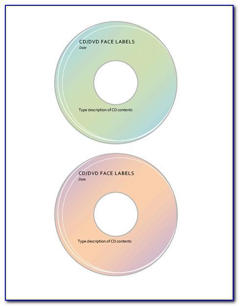 Cd Dvd Label Template Memorex