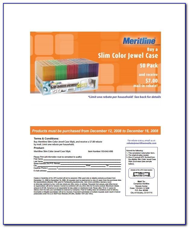 Cd Slimline Jewel Case Insert Template