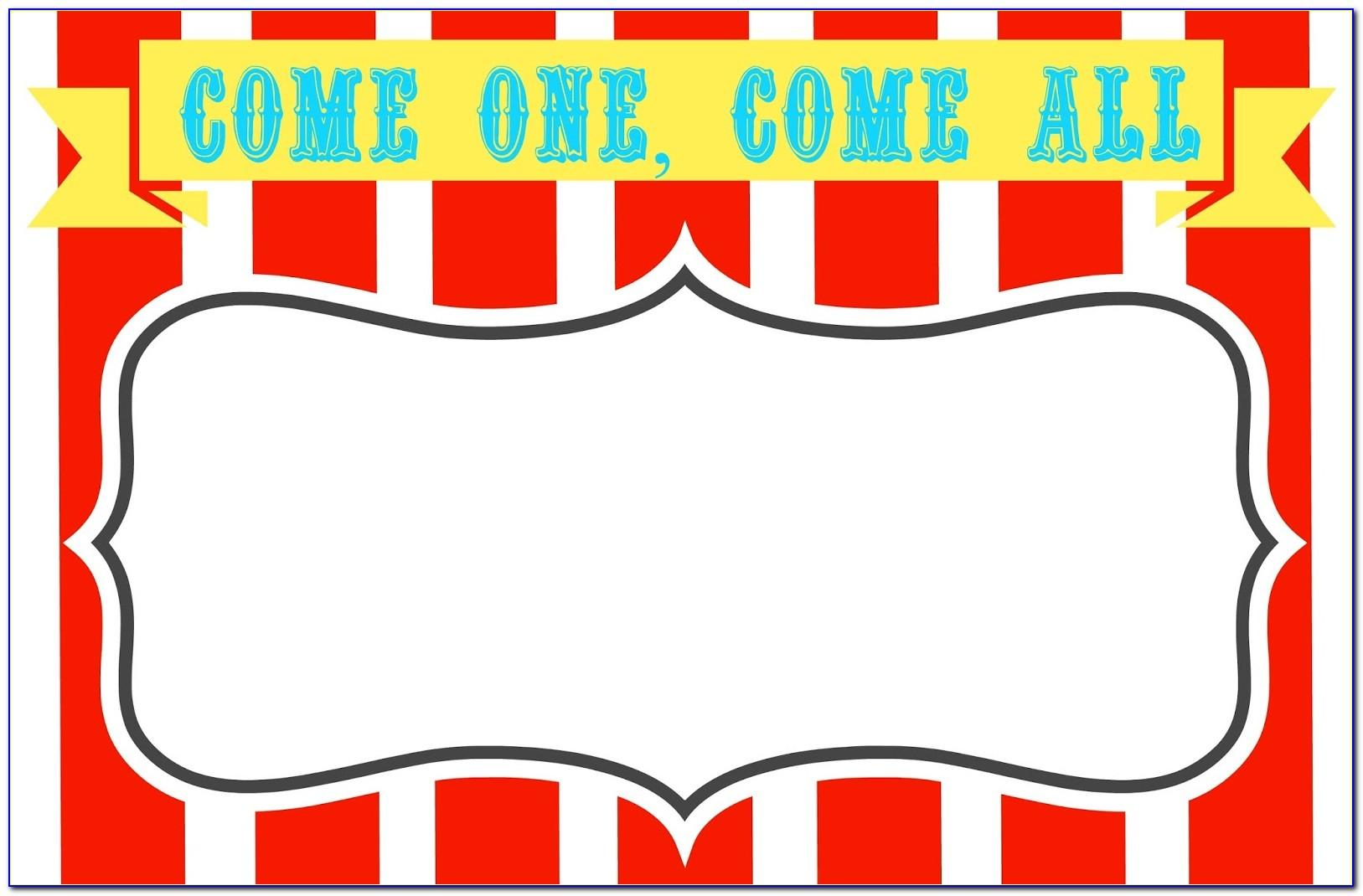 Circus Invitation Templates