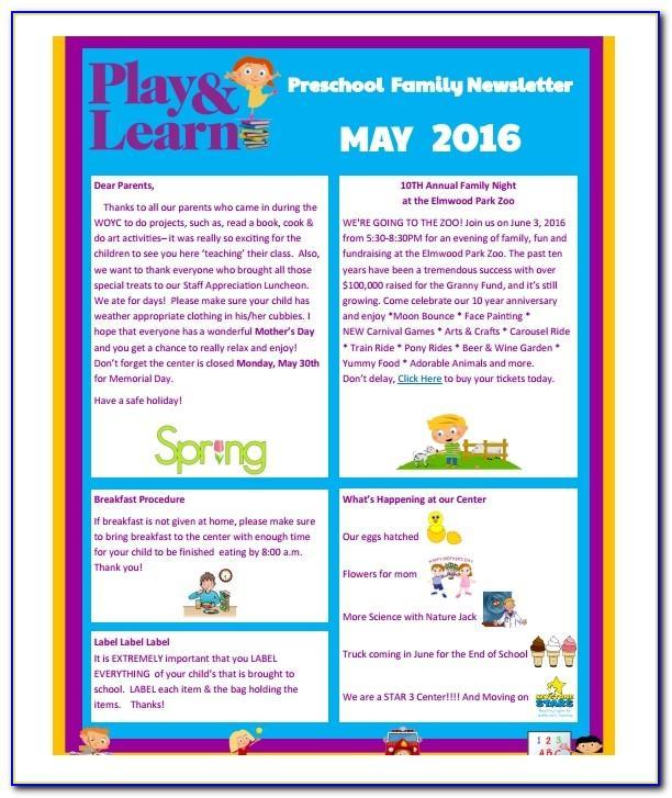 Classroom Newsletter Templates Free