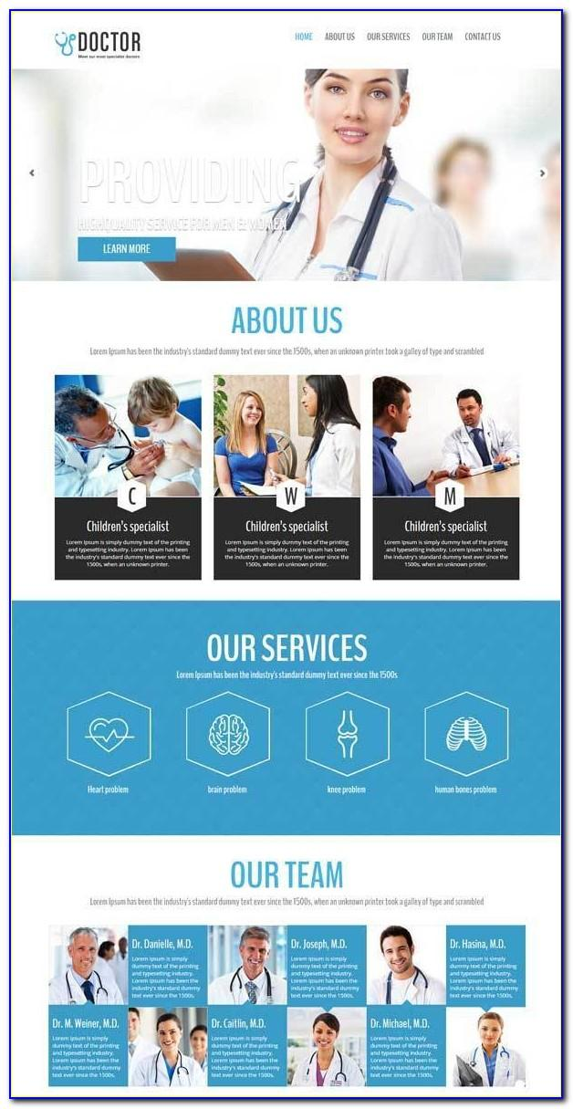 Clinic Website Template Free Download