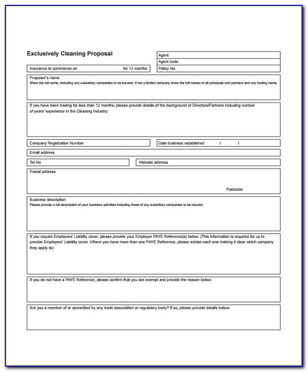 Commercial Cleaning Services Contract Proposal Template