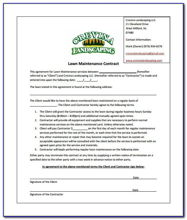 Commercial Landscaping Proposal Template