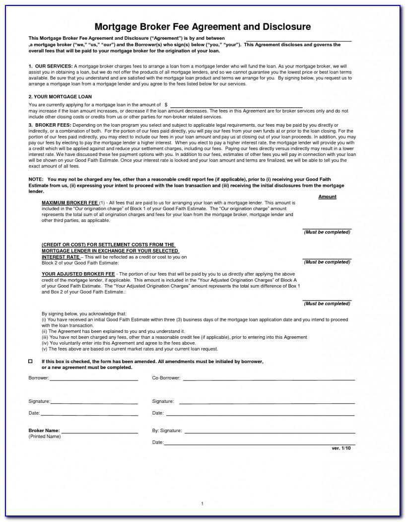 Commercial Loan Broker Agreement Sample
