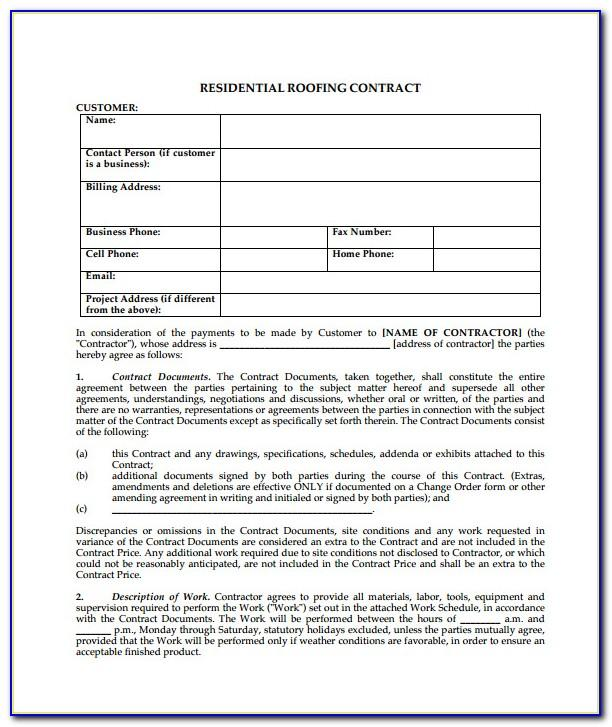 Commercial Roofing Bid Template