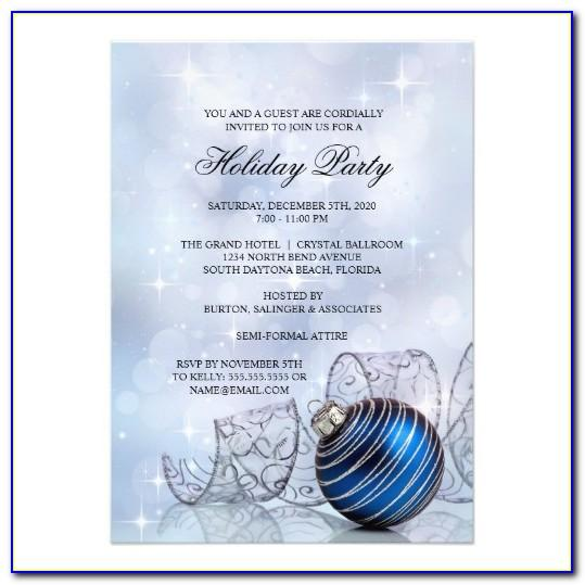 Company Holiday Party Invitation Templates Free