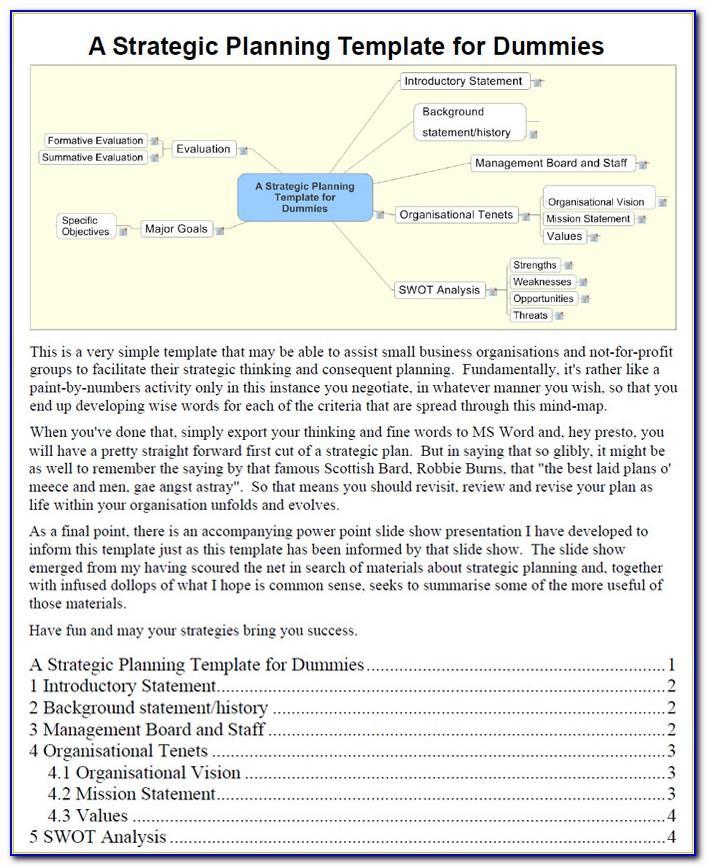 Company Strategic Plan Outline